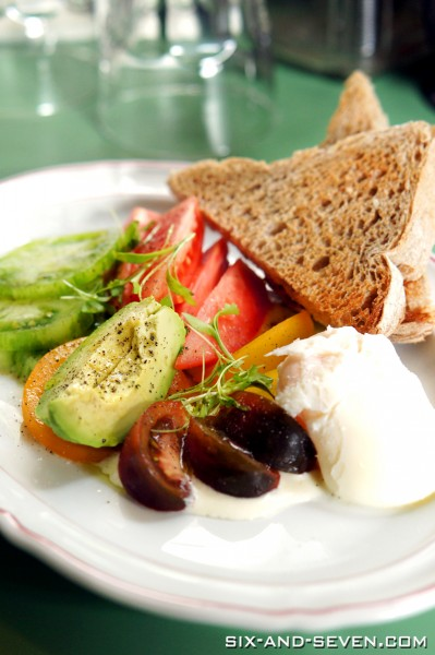 Broadcast HQ by Spa Esprit Group - Consultant Chef Andrew Gale - Tomato Salad with Poached Egg