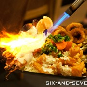 The Manhattan Fish Market - 10th Anniversary New Menu - Flaming King Prwans Platter