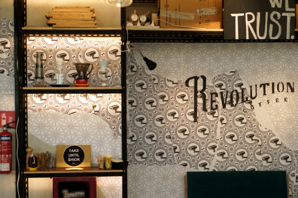 Revolution Coffee Infinite Studios - Owner Ajie Permana Chef Shen Tan - Interior
