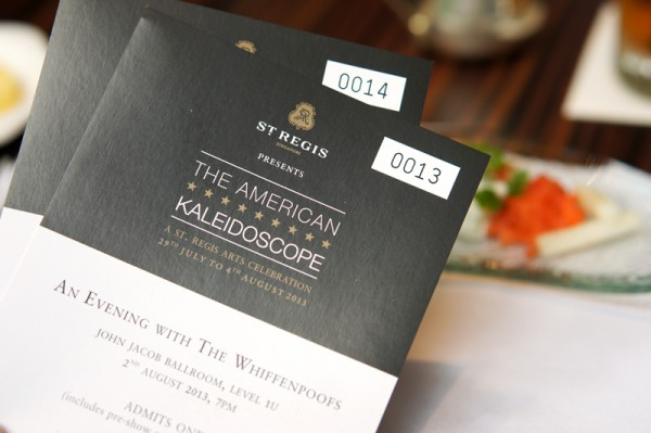 St Regis Singapore American Kaleidoscope - The Whiffenpoofs Tickets Giveaway