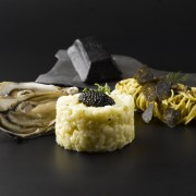 Il Cielo Hilton Singapore - Calvisius Caviar Promotion - Acquerello Risotto with Oyster, Homemade Warm Angel Hair with Truffle