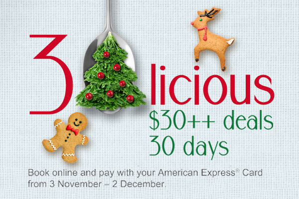 American Express Selects 30licious eals - 30licious is Back