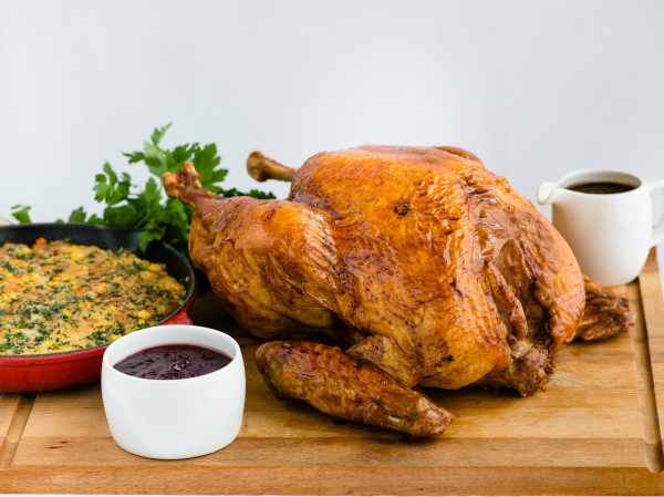 Pan Pacific Singapore - Roasted Turkey with Cornbread and Sausage Stuffing Giblet Gravy and Cranberry Sauce