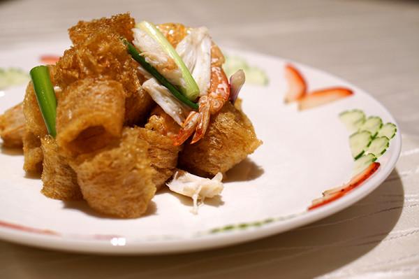 Tao Seafood - Asia Square - Stir Fried Fish Maw with Prawns