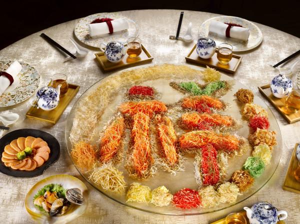 Man Fu Yuan - InterContinental Singapore - Salmon and Japanese Hokkigai Yu Sheng with Ponzu Shoyu