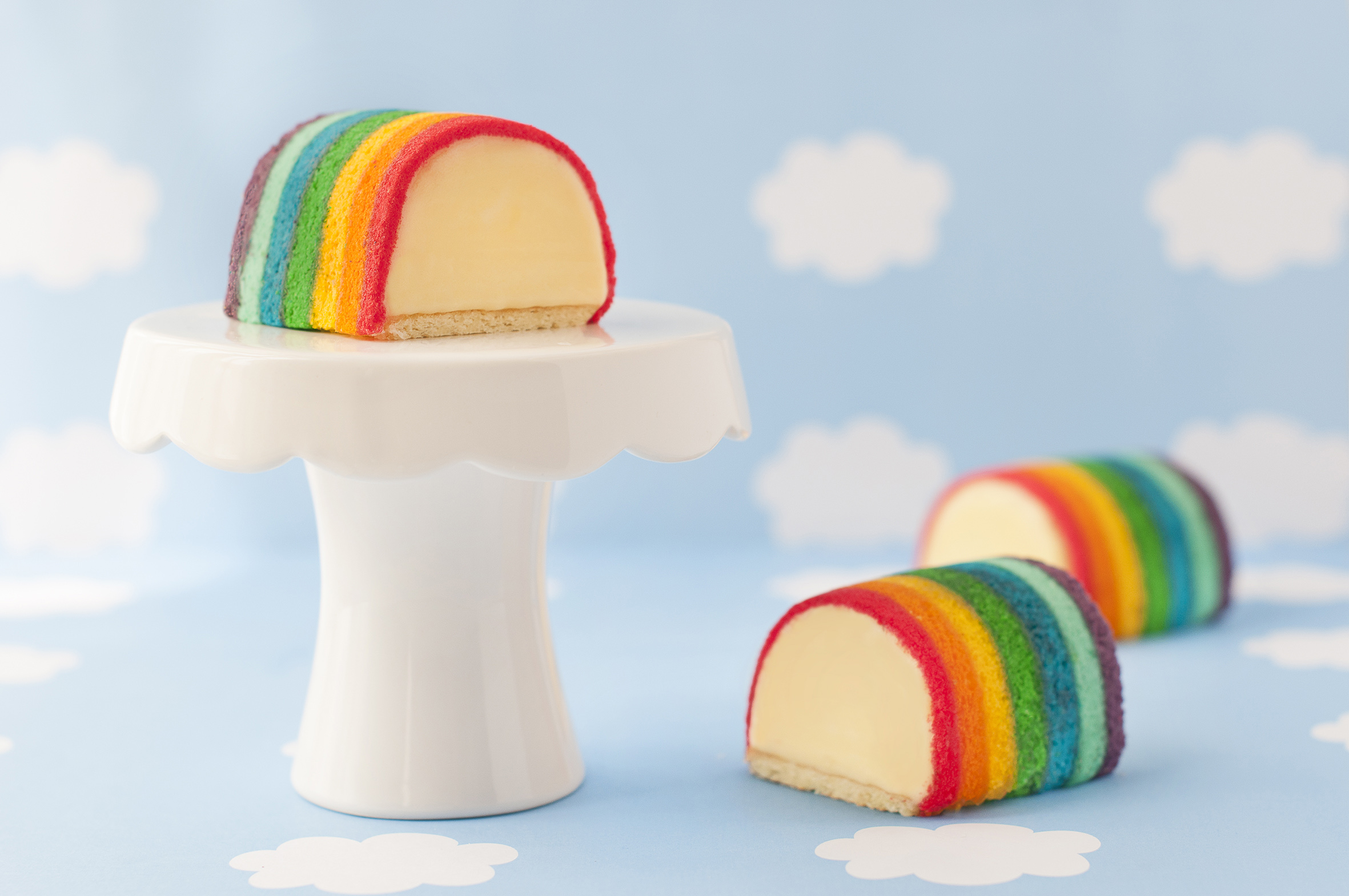 Durian Rainbow Ice Cream Cake