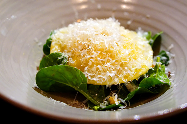 Maggie Joan's Dining & Bar - 110 Amoy Street - Smoked Potato & Egg Ravioli, Spinach & Hazelnuts