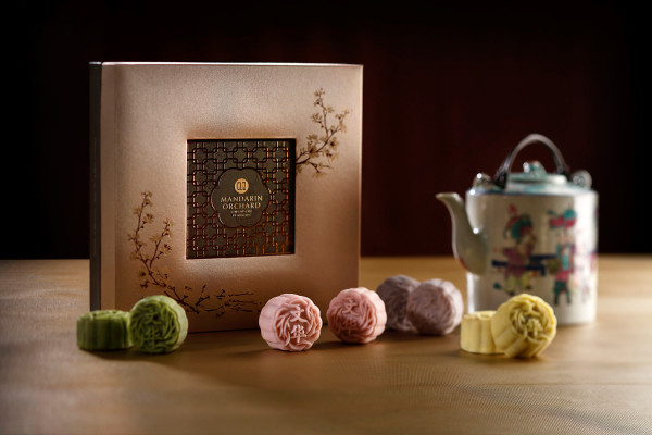 Mandarin Orchard Singapore Mooncakes 2015 - Mini Red Wine Cranberry Paste and Yuzu Lemongrass Snowskin Mooncake