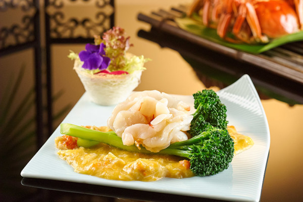 Li Bai Cantonese Restaurant, Sheraton Towers Singapore - Hairy Crab - King Prawn topped with Hairy Crabmeat and Crab Roe