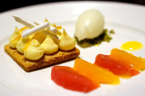 European restaurant Ash & Elm - InterContinental Singapore - Yuzu-Citrus Combination