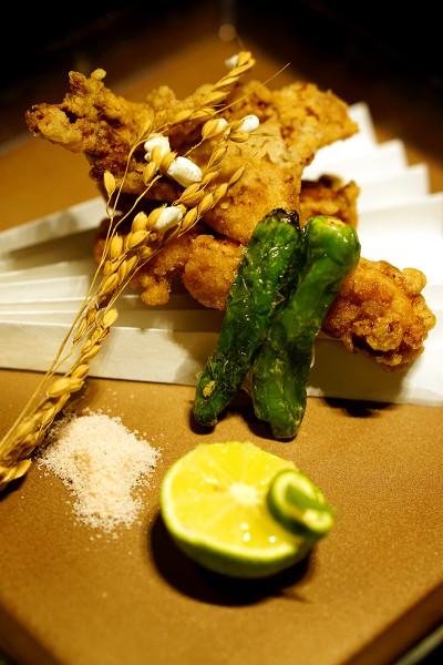Mikuni Fugu Grand Tasting Menu - Fairmont Singapore - Globefish Karaage, Japanese Sweet Green Chilli