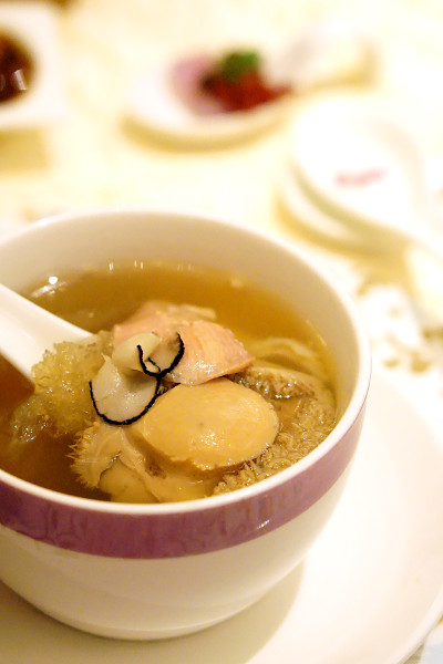 Chinese New Year 2016 - Man Fu Yuan InterContinental Singapore - Double-boiled Sakura Chicken Soup with Bird's Nest, Fish Maw, Abalone & Black Truffle