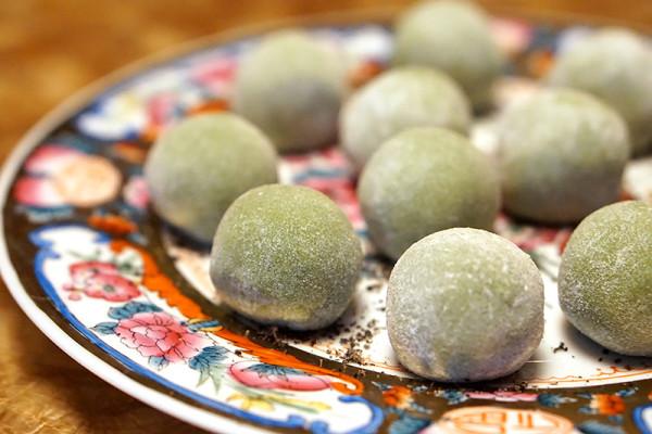 Chinese New Year 2016 - Cherry Garden Mandarin Oriental Singapore - Cherry Garden Fortune Gift Box Green Tea Mochi with Lotus Paste & Macadamia Nuts