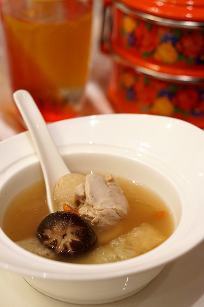 Chinese New Year 2016 - Halal Buffet Restaurant Carousel, Royal Plaza on Scotts - Double-boiled Fish Maw Soup with Bamboo Fungus and Shiitake Mushroom