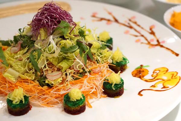 Chinese New Year 2016 - Min Jiang Goodwood Park Hotel - Crispy Salmon Skin Yusheng