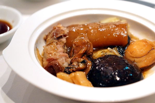 Chinese New Year 2016 - Min Jiang at One-North - Braised Pork Spare Ribs with Sea Treasures Closeup)