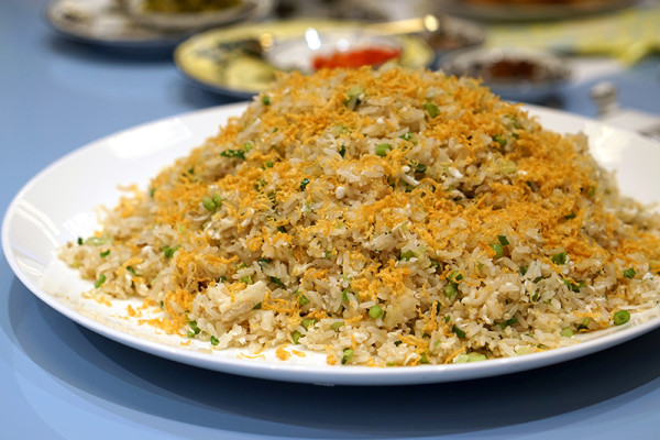 Chinese New Year 2016 - Summer Pavilion The Ritz-Carlton, Millenia Singapore - Fried Rice, Crab Meat, Conpoy with Egg Whites