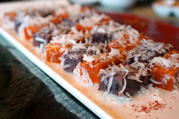 Chinese New Year 2016 - Szechuan Court & Kitchen Fairmont Singapore - Traditional Nian Gao, Coconut Cream Black Glutinous Rice Nian Gao