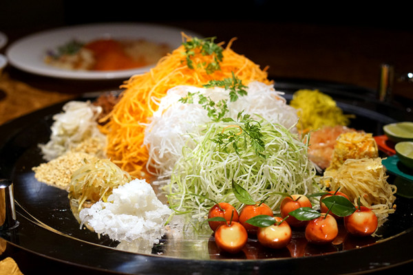 Chinese New Year 2016 - Silk Road Restaurant Amara Singapore Hotel - Eight Treasures Yusheng