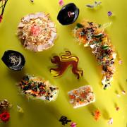 Mushrooms Mosiac Yu Sheng, Gourmet Carousel, Royal Plaza on Scotts