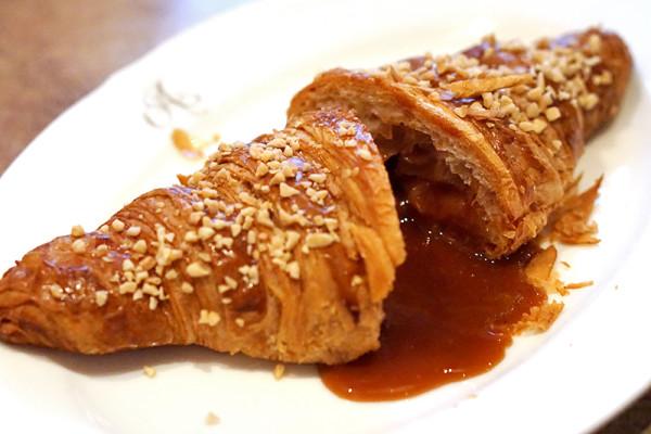 Antoinette's La Croissanterie Antoinette series - Salted Caramel Croissant Sliced