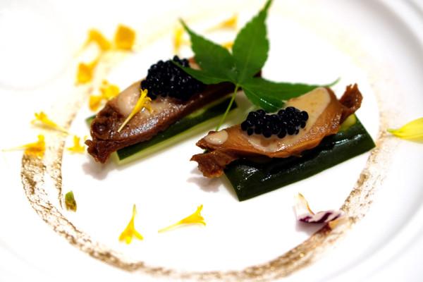 Master Chef Steven Ng of Shang Palace, Shangri-La Hotel Singapore - Exquisite Abalone Cuisine - Chilled Australian Abalone Sushi
