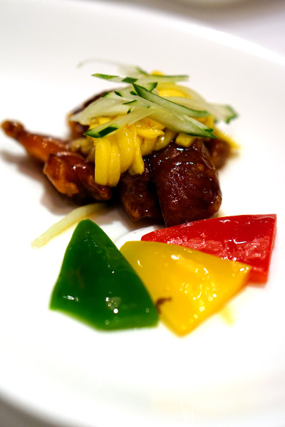 Master Chef Steven Ng of Shang Palace, Shangri-La Hotel Singapore - Exquisite Abalone Cuisine - Sweet & Sour Fresh Abalone Cubes