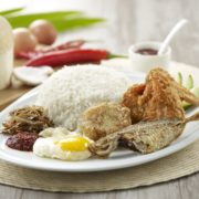 Set E $6.90 - Royal Rumble Meal (Nasi Lemak with Chicken Wing, Bergedil & Fish)