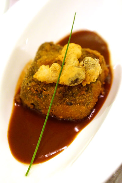 Crystal Jade Prestige at Marina Bay Financial Centre - Pan-fried Beancurd with Black Truffle Sauce