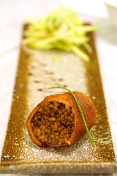 Crystal Jade Prestige at Marina Bay Financial Centre - Roasted Baby Suckling Pig rolled with Black Truffle Pearl Rice