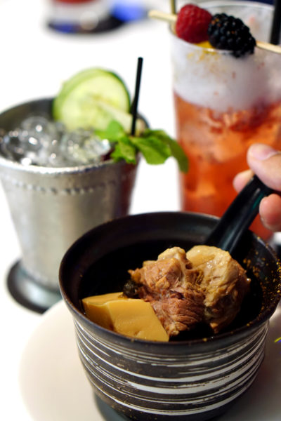 Grand Park Orchard Mitzo Restaurant & Bar - Ode to Spring Menu - Double-boiled Chrysanthemum pork ribs and clam soup
