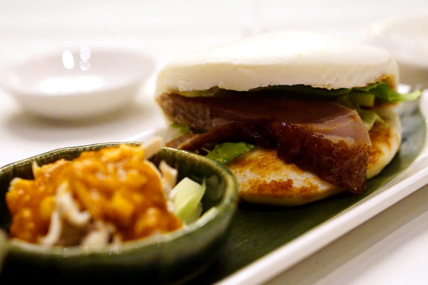 Shisen Hanten by Chen Kentaro, Mandarin Orchard Singapore - London Duck with Chinese Steamed Bun Appetiser