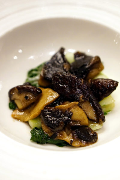 Shisen Hanten by Chen Kentaro, Mandarin Orchard Singapore - Sauteed Seasonal Vegetables with Duo Mushrooms & Truffle Oil