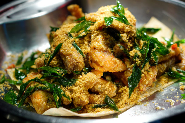 Hawkerlicious Buffet at Flavours at Zhongshan Park - Cereal Prawns with Curry Leaves