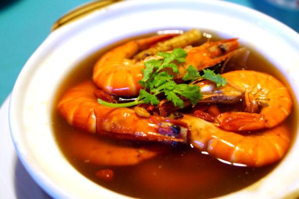 Seafood Galore at Kopi Tiam, Swissotel The Stamford - Chinese Herbal Prawns