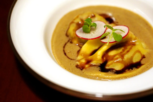 UsQuBa Scottish Restaurant & Bar at One Fullerton - Lobster Ravioli Soup