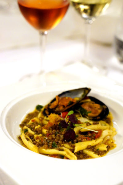 New Basilissimo Menu at Basilico, Regent Singapore - Of the Mediterranean and Alps - Cavatielli Pasta with Baby Cuttlefish, Mussels, Lentils, Aglio Olio and Bottarga
