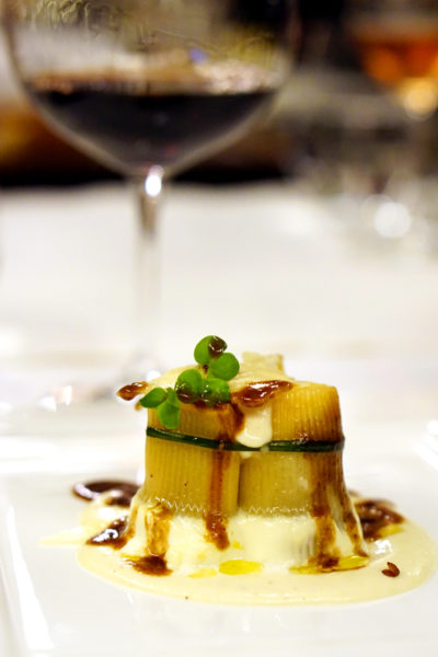 New Basilissimo Menu at Basilico, Regent Singapore - Of the Mediterranean and Alps - Chef's Braised Beef Cheeks Cannelloni served over Light Parmesan Velouté