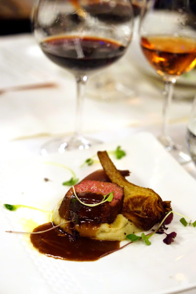 New Basilissimo Menu at Basilico, Regent Singapore - Of the Mediterranean and Alps - Sweet Chillidusted Lamb Loin with Artichokes, Sour Red Onions, Rosemary Crushed Potatoes and Barolo Wine Sauce