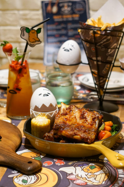 Gudetama Cafe Singapore - Lazy Egg Arrives in Singapore - Shiok Pork Ribs