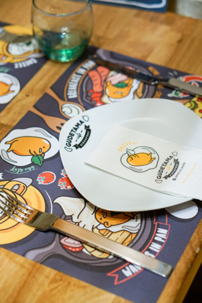 Gudetama Cafe Singapore - Lazy Egg Arrives in Singapore - Table