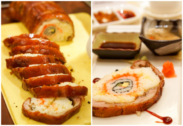 Chinese New Year 2017 at Golden Peony, Conrad Centennial Singapore - Roast Suckling Pig stuffed with California Maki