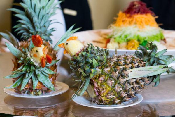 Chinese New Year 2017 at Jade, The Fullerton Hotel Singapore - Chicken Pineapple Containers