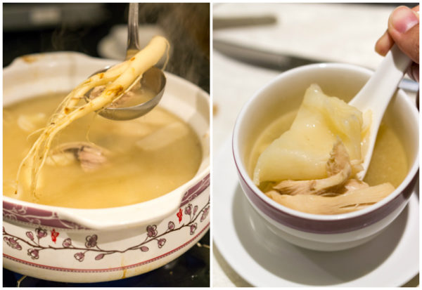 Chinese New Year 2017 at Man Fu Yuan, InterContinental Singapore - Double-boiled Chicken Soup with Korean Ginseng and Fish Maw