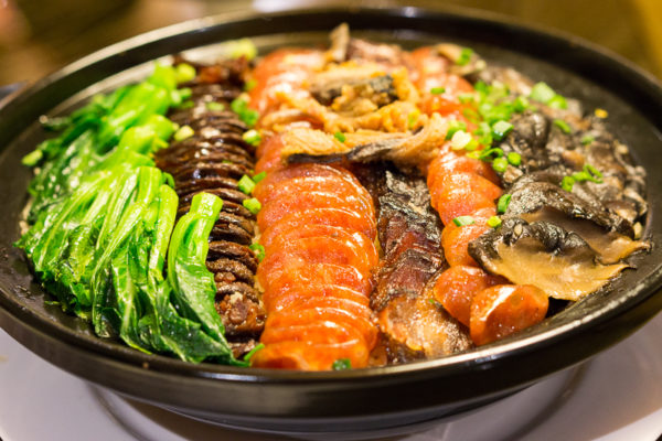 Chinese New Year 2017 at Silk Road, Amara Singapore - Steamed Fragrant Rice with Salted Fish, Chinese Sausages and Meat
