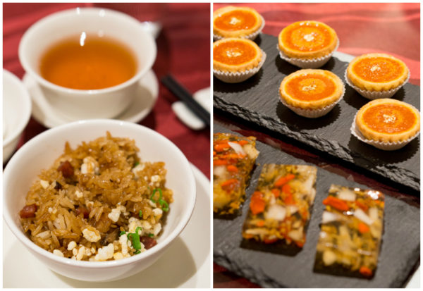 Chinese New Year 2017 at Wan Hao Singapore Marriott Tang Plaza Hotel - Wok Fried Glutinous Rice, Chilled Osmanthus Jelly and Deep-fried Nian Gao Pancake with Yam Paste