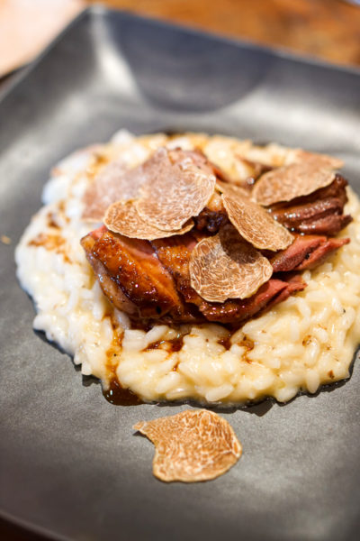 Truffle Indulgence at Prego, Fairmont Singapore - Acquerello Risotto, Parmesan, Roasted Pigeon Breast