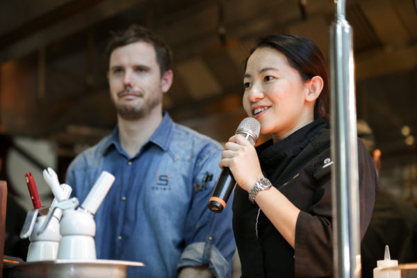 American Express Love Dining Celebrity Edition - Chef Janice Wong with Exec Sous Chef Christopher Ronald Hibbert