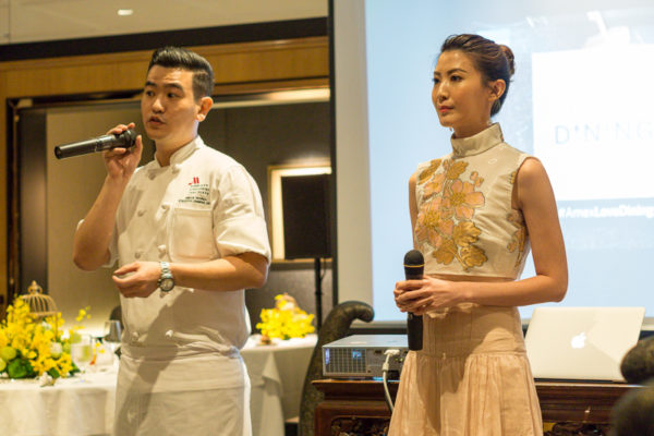 American Express Love Dining Celebrity Edition - Jeanette Aw with Exec Chinese Chef Brian Wong
