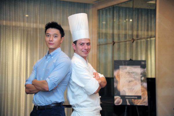 American Express Love Dining Celebrity Edition - Lennard Yeong with Chef de Cuisine Armando Aristarco